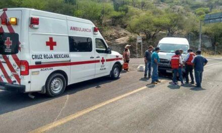 Varios lesionados dejó un choque en Acatlán