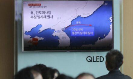 Corea del Norte lanzó misil a aguas japonesas