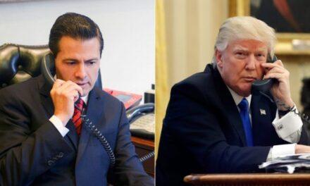 Peña Nieto ofrece ayuda a Trump por afectaciones de Harvey