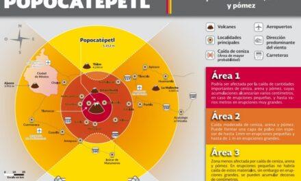 """Actualizan mapa de riesgo de """"El Popo"""""""