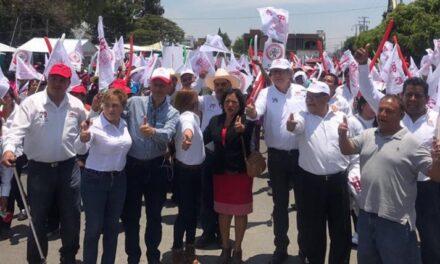 Vega Rayet acompaña a candidatos priistas a presidentes municipales