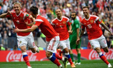 El equipo de Rusia goleó 5-0 al de Arabia Saudita