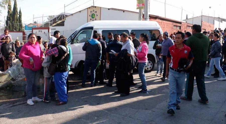 Atropelló ruta 64B a 8 personas en Puebla
