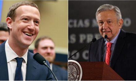 AMLO y Zuckerberg hablan de llevar internet a todo el país