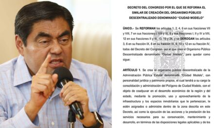 Miguel Barbosa extinguirá OPD Ciudad Modelo creado por Moreno Valle