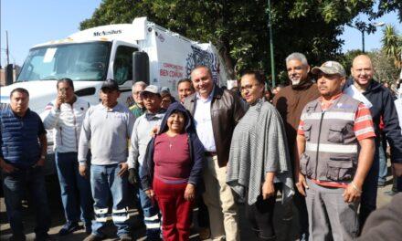 Gobierno Municipal de Atlixco adquiere camiones y contenedores para mejorar la recolección de basura