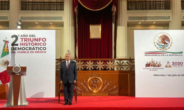 Austera celebración del triunfo de AMLO, de hace 2 años