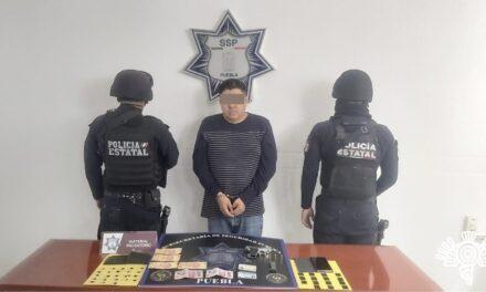 Narcomenudista es detenido en Atlixco