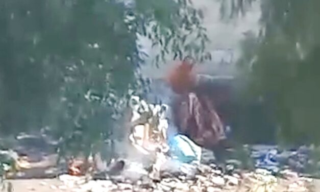 Colonos denuncian quema de basura en San Juan Coahuixtla