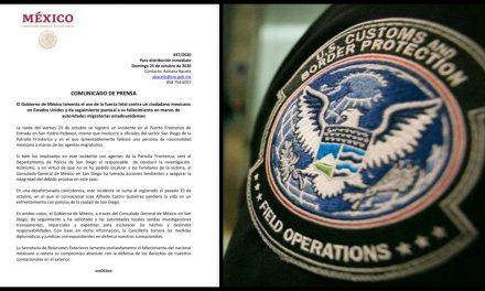 En pelea, patrulla Fronteriza mata a migrante mexicano