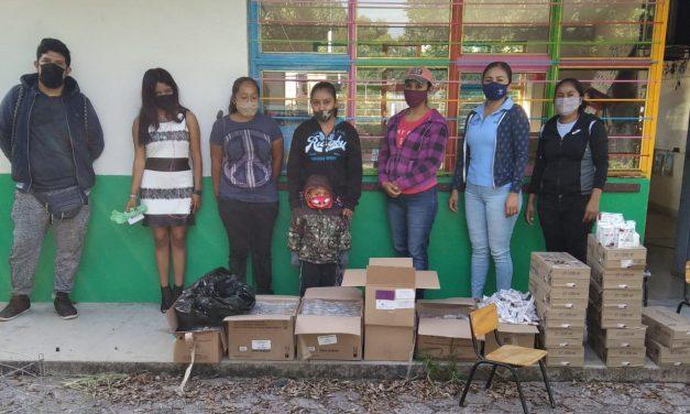 DIF de Huehuetlán entrega paquetes alimentarios
