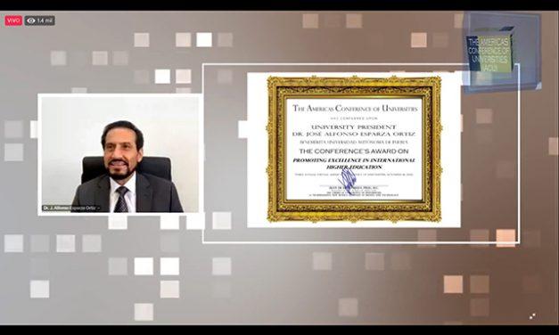 The Americas Conference of Universities otorga reconocimiento a Rector de la BUAP