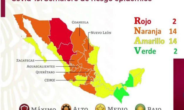 Puebla se mantendrá en semáforo amarillo por Covid 19 dos semanas mas