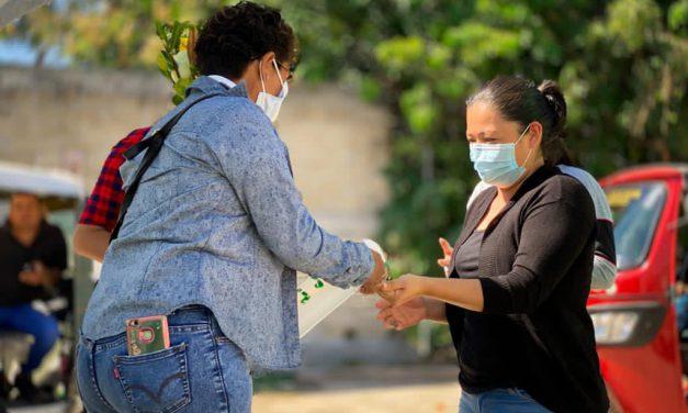 Con filtros sanitarios, resguardaron la seguridad en panteones de Tepeojuma