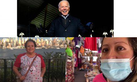Migrantes poblanos respaldan a Biden