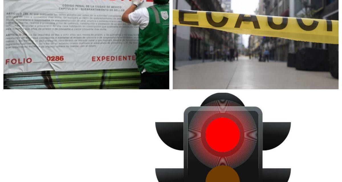 Por semáforo rojo CDMX y Edomex cierran negocios no esenciales