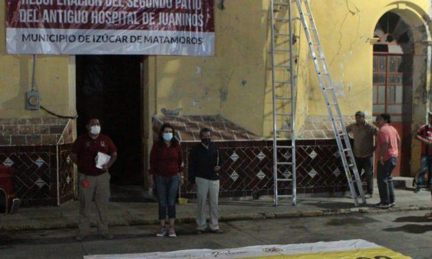 Recuperan el 2do. Patio del Antiguo Hospital Juaninos para su reconstrucción