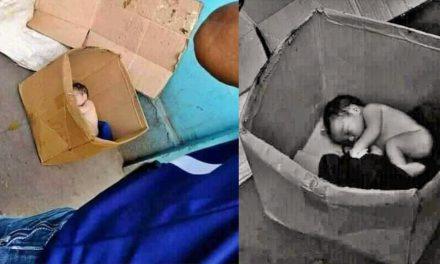 Encuentran sin vida a un bebé en una caja de cartón