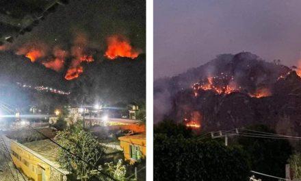 Incendio en Tepoztlán incontrolable; ya consumió 180 hectáreas