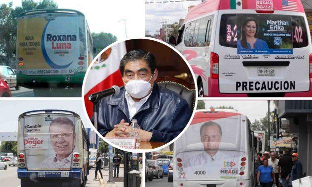 Transportistas que permitan propaganda electoral perderán concesión: Barbosa