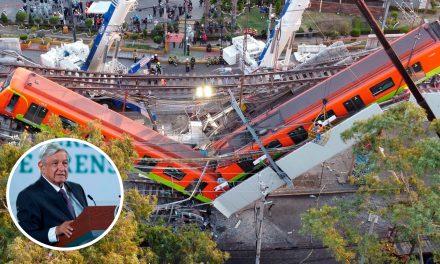 """AMLO sobre el desplome del metro: """"Me solidarizo, no me tomo fotos"""""""