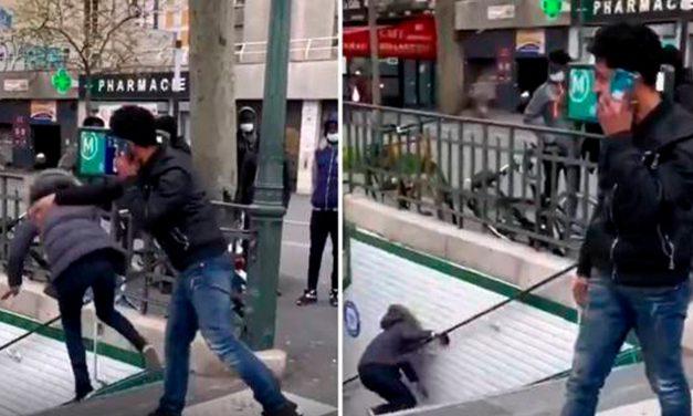 Expulsado de Francia por empujar a una mujer hacia las escaleras